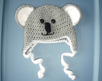 Koala Baby Hat/Photo Prop (0-3months)
