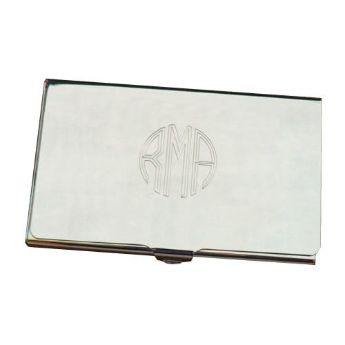 Personalized Business Card Holder Custom Monograme Engraved