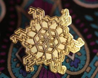 Gold DMT Spirit Molecule Flower hat pin