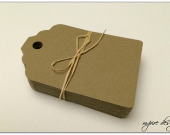 Luggage Style Favor Tags