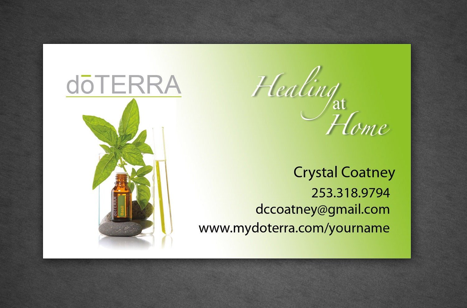 Printed doTerra Business card Design Full Color by