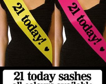 Luxury 21 Today Birthday Sash - Gift for 21st Birthday Party - Decoration
