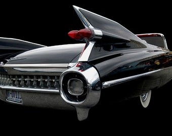 Classic black 1959 Cadillac
