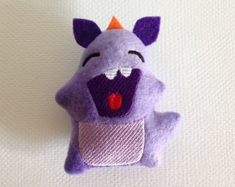 Embroidered Monster (Baxter) / Stuffed Toy / Ornament