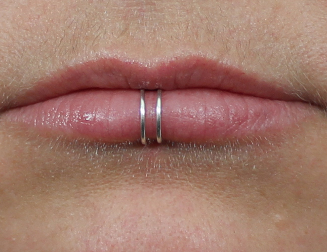 lip ring solid sterling silver gold filled by