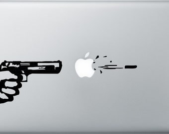 Gun Shot Vinyl Decal Sticker Skin for Apple MacBook Pro Air Mac 13 inch iPad