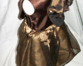 Cocoa colored ballgown with jacket for your American girl doll