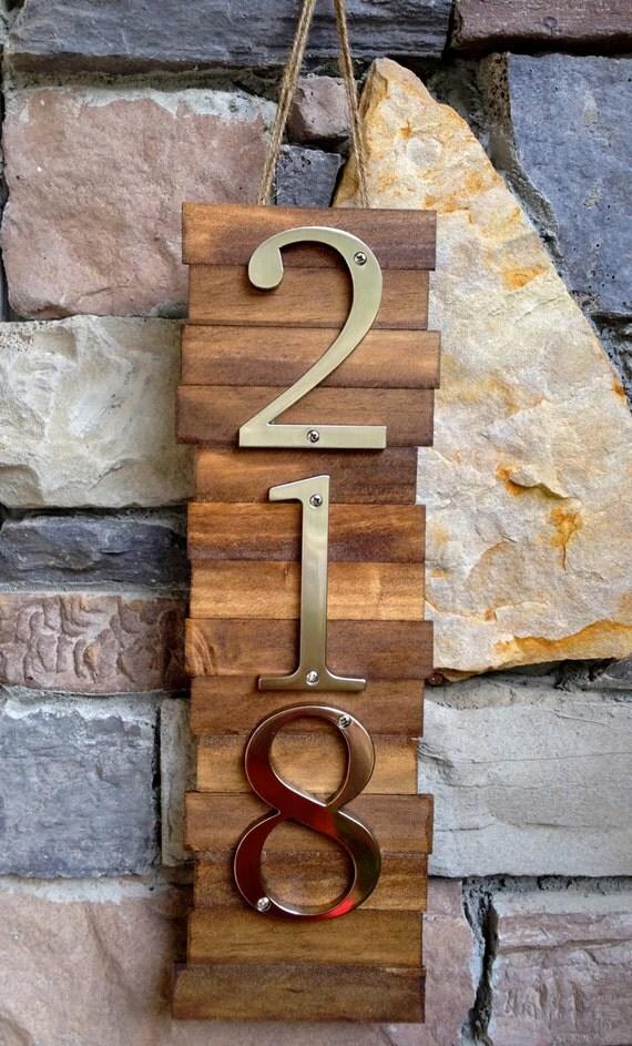 Plaque de num rotation de maison d corative 3 s cintre en for Plaque maison design