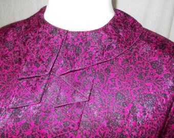 Windsmoor pink black frill collar shirt size large UK 14