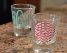 Custom Monogram Shot glass ~Personalized~ Great Gift ~ Sorority