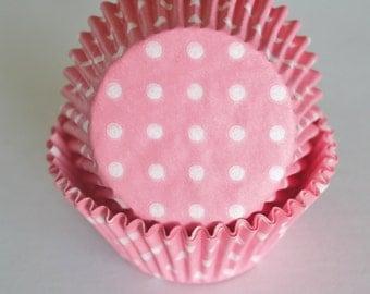 Pink & White Polka Dot Cupcake Papers