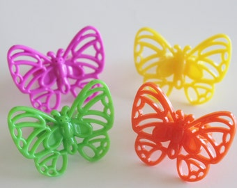 Bright Colorful Butterfly Cupcake Rings
