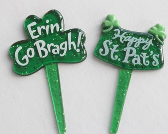 St. Patricks Day Cupcake Picks