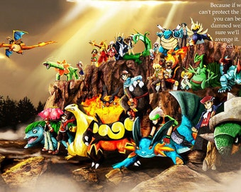 Pokemon Children Poster 33""