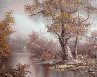 European art 1980's oil painting landscape