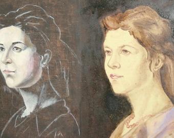 European art oil painting portrait woman