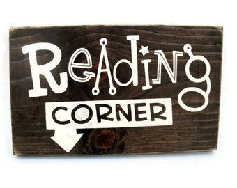 Playroom or Bedroom Reading Corner Rustic Wood Sign Wall Decor (#1139)