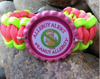 Peanut Allergy paracord bracelet
