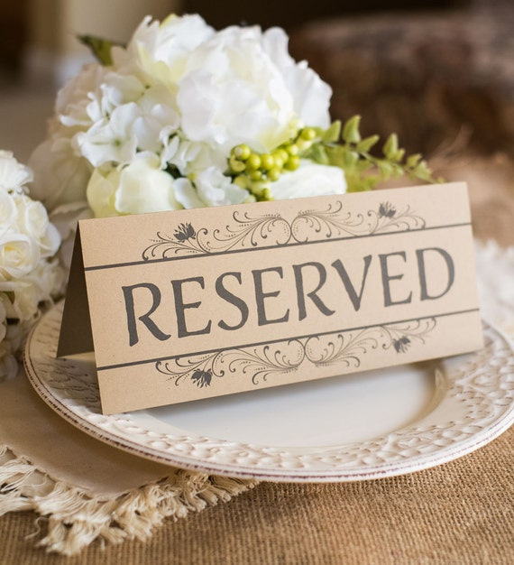 Instant  x sign table  rustic  Wedding reserved 9 Reserved Sign DOWNLOAD  Rustic 3.75   Table