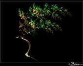 abstract fractal art print: Autumnal Silk Tree