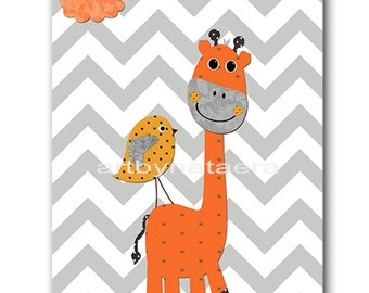 Giraffe Nursery Art Baby Nursery Decor Printable Decor Baby Boy Nursery Print Digital Print Printable Wall Art 8x10 11X14 INSTANT DOWNLOAD