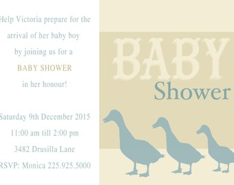 baby shower invitations geese