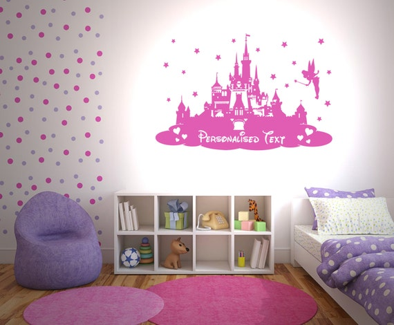 Disney Princess Castle Personalised Wall By Thestickerstop