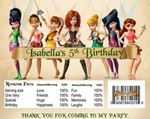 DIY Printable Pirate Fairy Birthday Party Candy Bar Chocolate Wrapper 001