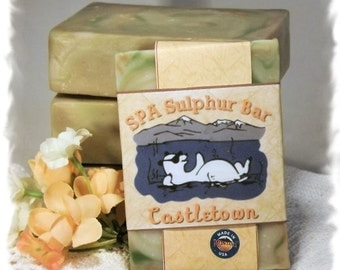 Homemade/Handmade Soap Green Irish Tweed _ Castletown _ SPA Sulphur Mineral Handmade Soap