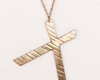 X Cut Necklace