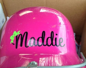 Helmet Decal Name, Softball, Baseball, Tball, all Colors and sizes Custom, Personalized Name Decal Custom Decal Girls and Boys