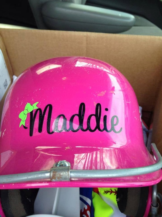 Helmet Decal Name Softball Baseball Tball All Colors And - Pink motorcycle helmet decals