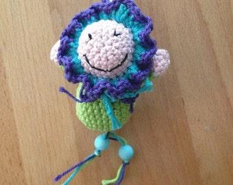 Key chain flower girl