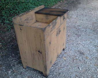 Primitive Dry Sink with Cutting Board