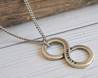 Men's Necklace - Men Infinity Necklace - Men Silver Necklace - Men's Jewelry - Men Jewelry - Men Necklace - Boyfriend Gift - Husband Gift