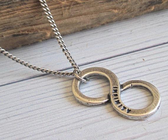 Schmuck für männer  Herren Halskette Männer Infinity Necklace Herren Silber