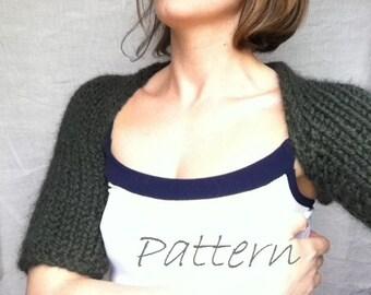Outlander Shrug Knitting Pattern / Knit Pattern Shoulder Shrug