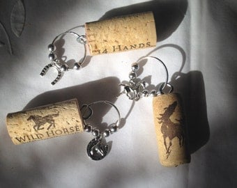 Cork Wine Glass Charms/Identifiers -set of four