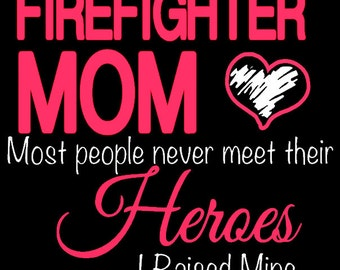 Firefighter Mom Pullover Hoodie or sweatshirt
