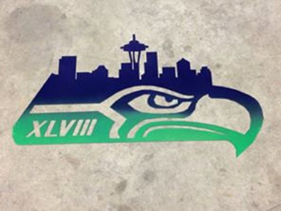 Metal Seahawks Inspired Skyline Logo Super By