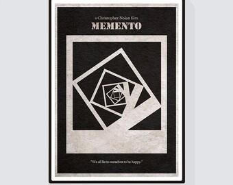 Memento Alternative Minimalist Movie Poster & Print