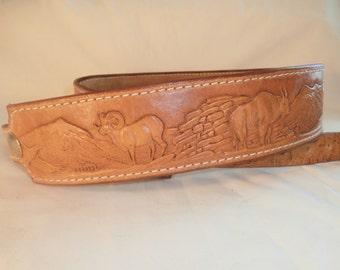 Northwest Hand Tooled Leather Rifle Sling 101