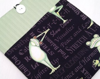 Yoga frogs iPad air  padded sleeve /Yoga frogs iPad air retina case ./   Made in Maine / yoga frogs