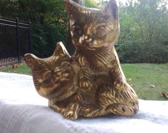 Vintage Brass Cats