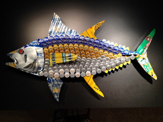 Yellowfin Tuna Fish Beer Cap Amp Can Art