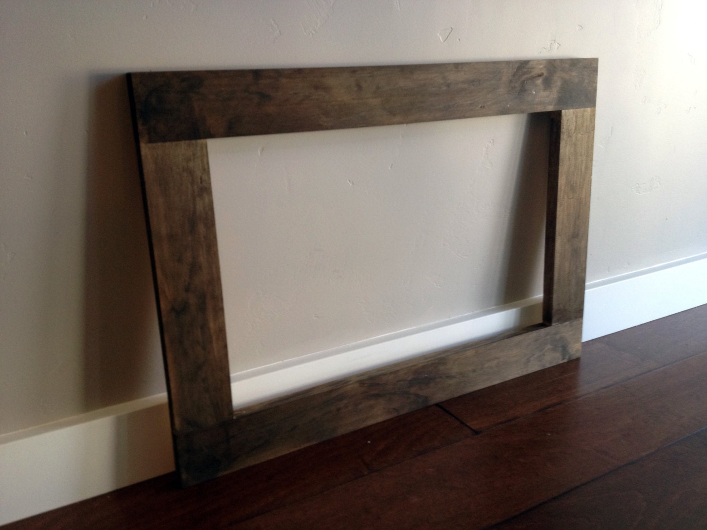 2 Rustic Wood Frames Large Wood Frame by ModernRusticBoutique