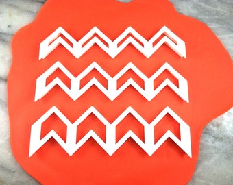 Chevron Fondant Cookie Cutters - 3 Different Sizes - Ultra Fast Shipping!