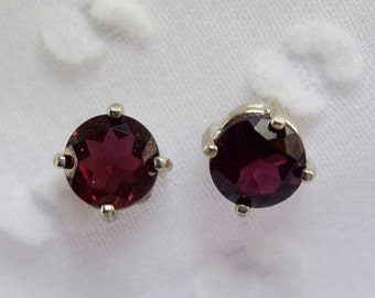 Genuine Garnet Earring Studs