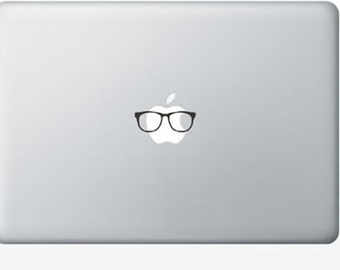 Glasses Funny Cute MacBook Pro Air Decal - As Seen On TV!