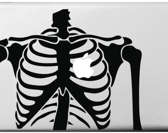 Skeleton vinyl sticker for 13inch Apple MacBook laptop